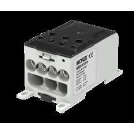 Μπλοκ Διανομής 400A είσοδος 10x(1x25mm²) έξοδοι 4x35mm², 3x50mm², γκρι
