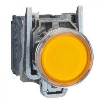 Μπουτόν λυχνία με LED κίτρινο 24V
