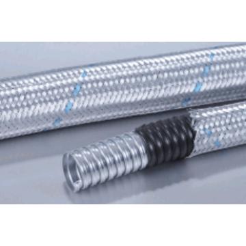 Σωλήνα μεταλλική ανοξείδωτη με επένδυση PVC & κάλυψη πλεξούδας από ανθρακοχάλυβα Φ25mm(Εξωτερικό) - Φ18mm(Εσωτερικό)