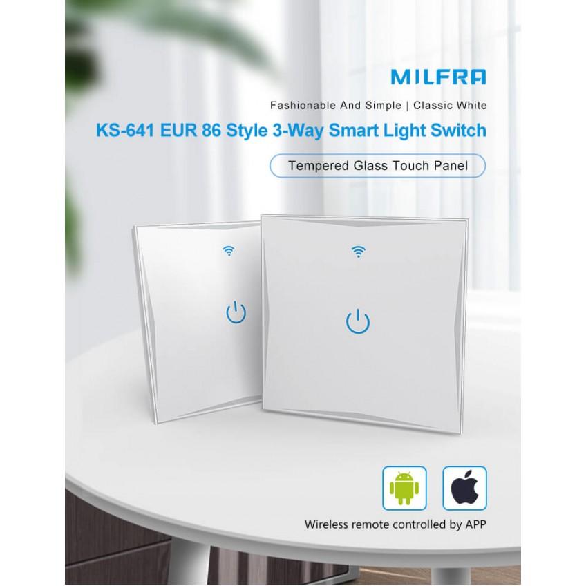 Διακόπτες Φωτισμού & Πριζες Wi-Fi - Touch Screen