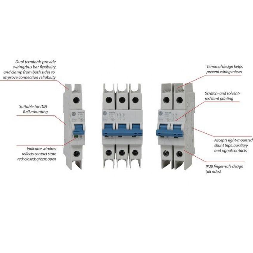 Θερμομαγνητικές αυτόματες ασφάλειες 10kA χαρακτηριστικών C & D, 10kA